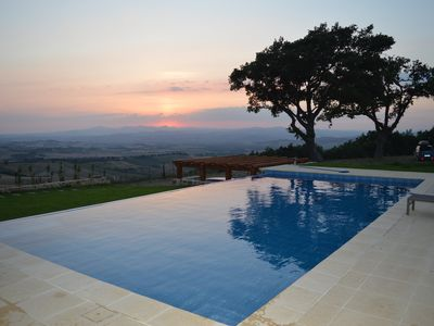 Photo for Villa La Quercia with pool near Montenero d'Orcia, Tuscany