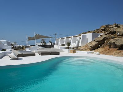 Photo for Brand New Villa Ancus over the New Port of Mykonos