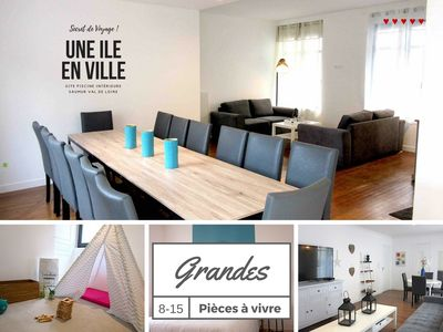 Photo for Large Gite 8-15 People in Saumur with garden & INDOOR SWIMMING POOL