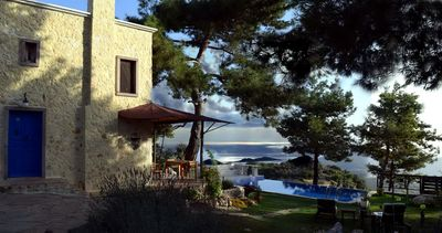 Photo for Authentic Rustic Mediterranean Cottage With Private Pool, Sea And Forest Views