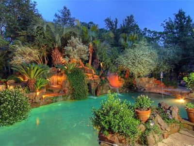 Photo for Custom Mediterranean Style 4100 Sq Ft & 11 ft Pool. 2 Master Bdrms on a dbl lot