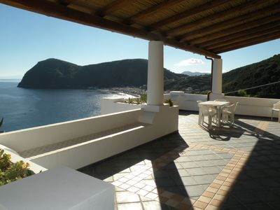 Photo for LIPARI, AEOLIAN ISLANDS, Panoramic apartment 750 meters from the Canneto beach
