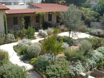 Photo for Beautiful Stone Cottage in Tranquil Zichron Garden