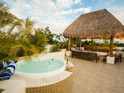 Photo for Tulum 2BR Aldea Zama Penthouse Condo With Private Rooftop Patio And Spa