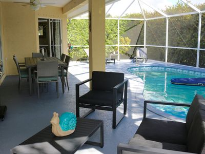 Photo for Beautiful 3 bedroom 2 bath heated pool home, Sanitized and Clean. Great location