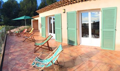 Photo for Sanary, beautiful large villa, several terraces with panoramic sea views