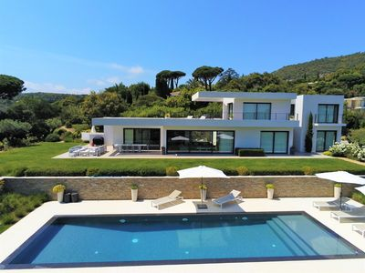 Photo for Modern villa with superb sea view