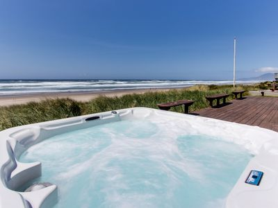 Photo for Spacious, dog-friendly, oceanfront home w/ patio & hot tub