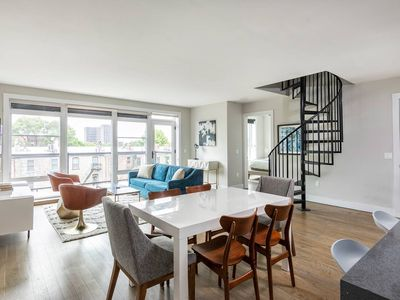 Photo for Luxury 2 BR Loft w/ Roof Deck near PATH to NYC