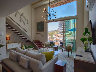 Photo for V177 Penthouse 3 1BD Penthouse for rent in Old Town, Puerto vallarta