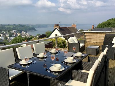 Amazing sea views from the well furnished decking