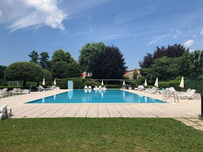 Photo for Studio in the Lake Como region, swimming pool, private park, lake view