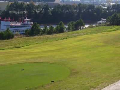 Golf course and waterway from the balcony