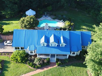 Photo for Luxurious Mountain Home with Amazing Asheville Mountain View's, Hot Tub & Pool!