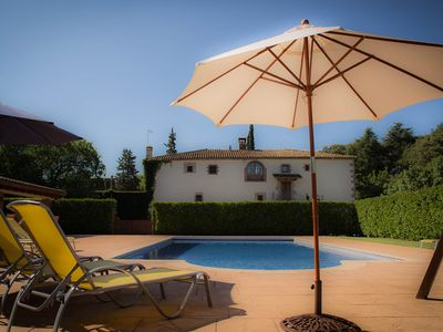 Photo for Can Burguès: Lovely cottage 30 min from Barcelona with heated pool and barbacue