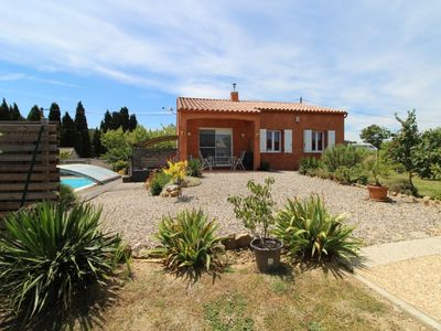 Photo for 96 M2 villa with private pool in the heart of Corbières