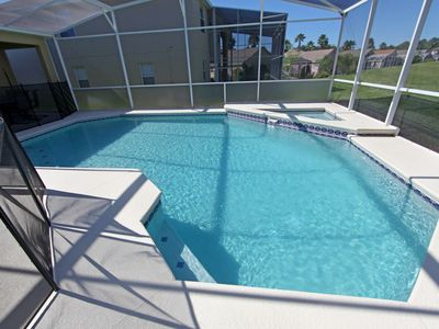 Photo for Private Pool & Spa-Golf view-Pool fence around pool