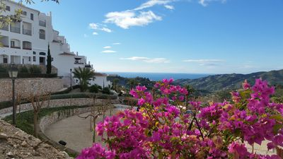 Photo for Beautiful 2 bedroom, 2 bathroom apartment in Frigiliana, with communal pool.
