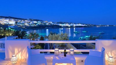 Photo for Psarou Brand new Waterfront Amazing Villa with Private pool and Private beach, Psarou MYKONOS