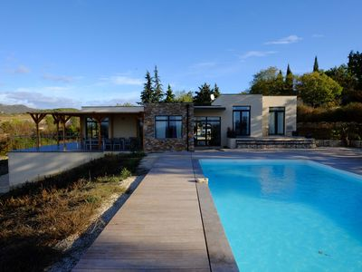 Photo for Detached house with private pool in Provence Ardeche 2 hectares