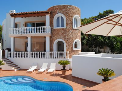 Photo for Catalunya Casas: Villa Carbo for 6 with a private pool and sea views, just 1km to Ibiza beaches!
