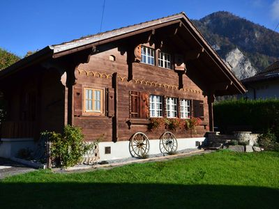 Photo for Swiss Traditional Chalet with view of the Alps