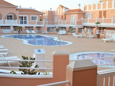 Photo for 2 bedroomed apartment on the well sought after Esmeralda complex Caleta de