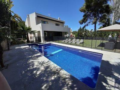 Photo for Modern  villa in Alcudia with Protected pool 8 mn from the sea