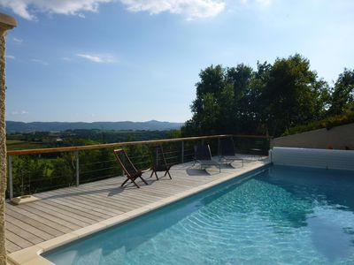 Fabulous view from pool - completely private and not overlooked