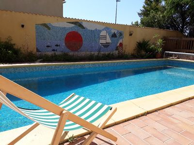 Photo for Villa with swimming pool 10 minutes from the town center, quiet area