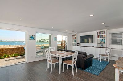 Dining Area with access to large patio on the Bay