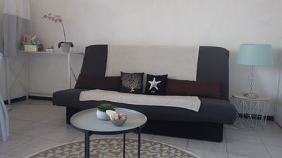 Photo for Furnished studio 26m2 + loggia, 20 m from the beach