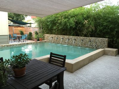 Photo for AustinPoolHouse - Open & Chic Downtown House for Groups. Walk to Bars & BBQ