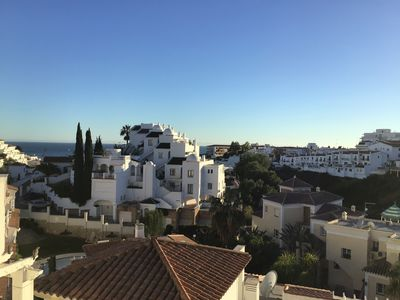 Day time over Burriana, Nerja - view from patio.