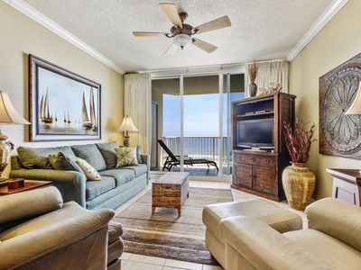 Photo for Newly Decorated Beach Club A807 King/Queen/Sofa sleeper, Direct Gulf View  WIFI