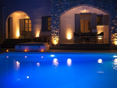 Photo for YOUR PRIVATE HOUSE WITH ULTIMATE LUXURY. 2 BEDROOM VILLA IN MONSOON RESORT SANTORINI