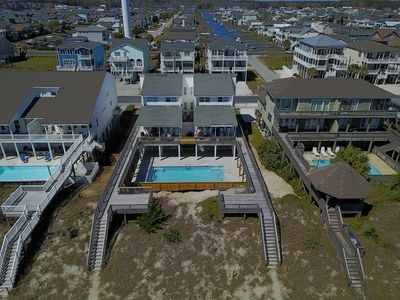 Photo for LARGEST OCEANFRONT POOL ON OIB 1/4 Mile East of Pier 12 Bedroom 8 Bath SLEEPS 44