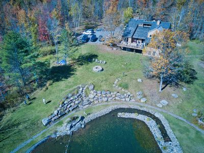 Photo for 5 Min to Windham Mtn! Luxury Retreat w/Amazing Views! Natural Swimming Pond