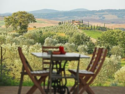 Photo for Wonderful private villa for 10 guests with private pool, WIFI, TV and parking, close to Montalcino