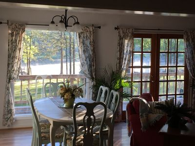 Photo for One of Best  Locations on lake !   Cozy, relaxing lake front cottage