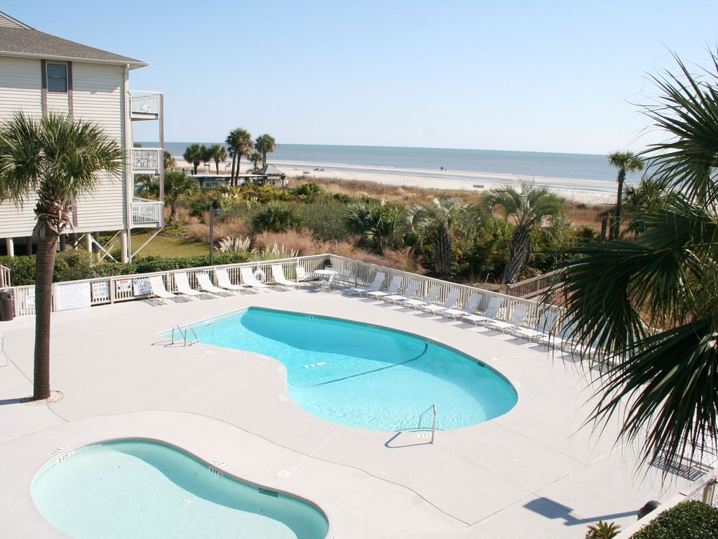 Oceanfront 1 Bedroom Villa With Private Oceanfront Balcony Hilton Head South Carolina Island