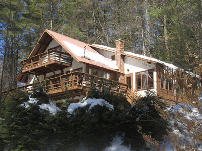 Photo for SPACIOUS 4 SEASON ADIRONDACK HOME OVERLOOKING SMALL PRIVATE LAKE