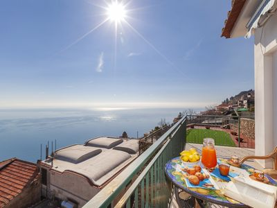 Photo for Residenza Rosalia 1 with Sea View, Private Terraces and Air Conditioning