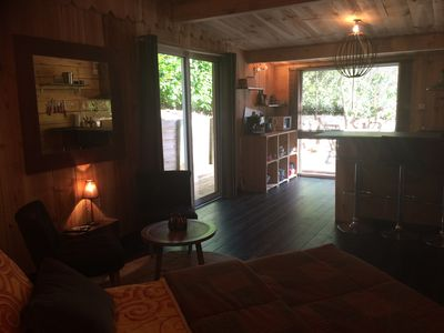 Photo for quiet wooden chalet golf near lake and ocean 3 stars
