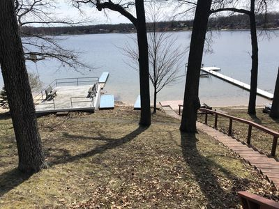 Photo for Lake front cottage on beautiful 900acre all sports Big Star lake, Baldwin MI