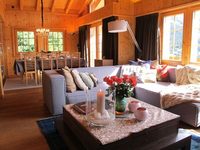 Photo for MAGNIFICENT DUPLEX, IMPREGNABLE VIEW ON THE ALPS AND THE VILLAGE