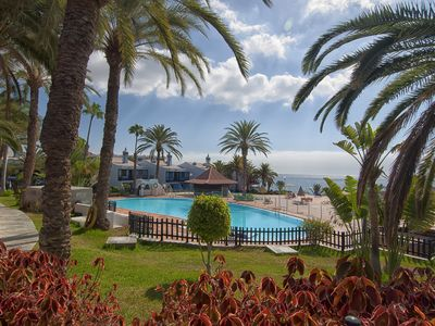 Photo for Sea view and oceanfront Fabulous Maspalomas apartment