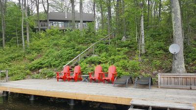 Photo for Perfect Waterfront Family Cottage, Sleeps 10, Dogs Allowed, Boat Incl