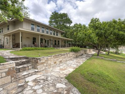 Photo for The Great Escape-Luxury Hill Country Estate on the Blanco River - Pool