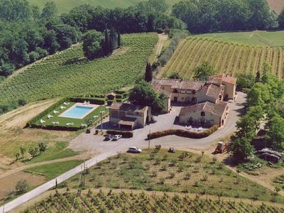 Photo for Holiday apartment San Gimignano for 3 - 4 persons with 2 bedrooms - Holiday apartment in a farmhouse